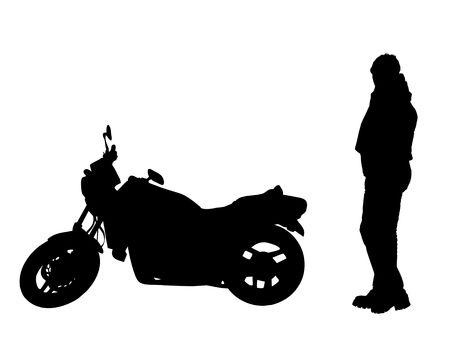 celerity: motociclista y moto Foto de archivo