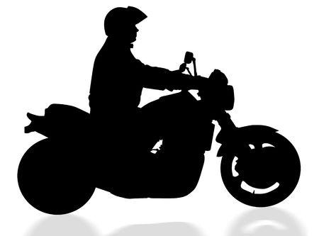 boldness: Silhouette of a biker