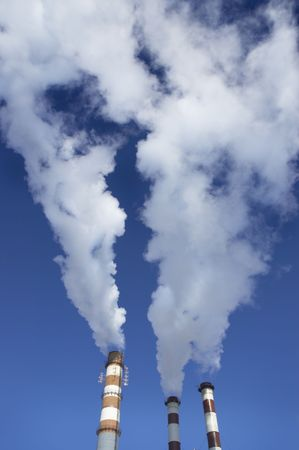 admixture: steam and sky Stock Photo