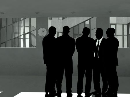 spaniard: business group - 5 businessmen Stock Photo