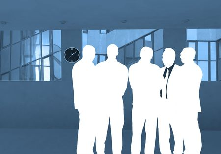 business group - 5 businessmen Stock Photo - 352510