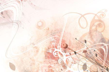 liana: art grunge  water-colored background