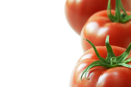 ripeness: ripeness in close up(focus on the nearest tomato) Stock Photo