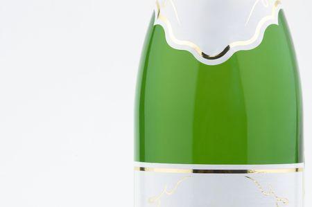 exultation: bottle of champagne in close up Stock Photo