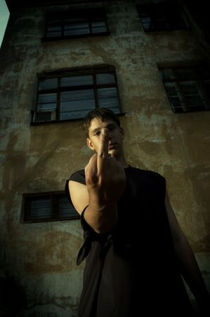 middle finger(special photo fx) photo