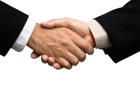 Two businessmen shaking hands Stock Photo - 524902