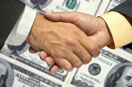 assent: Two businessmen shaking hands