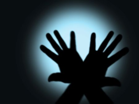 dark horror(hands with cool light,special f/x,made from my images) Stock Photo - 530823