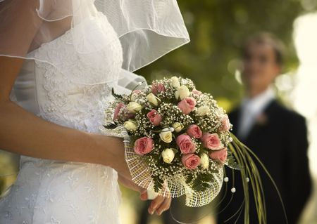 marriageable: bridal bouquet(focus on the flowers,special photo fx)