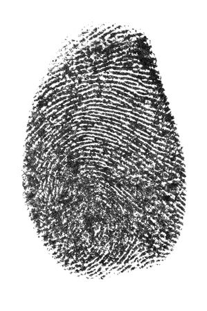 fingerprinting: personal finger-mark isolated on the white background(made by me,from my finger)