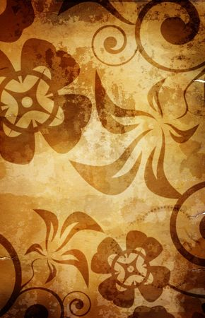 great old  grunge paper texture(special fx,all art elements and prints made by me  ) Stock Photo