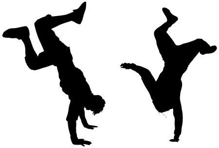 isolated dancers(great for your design and art work) photo