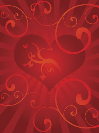St.Valentine's day theme,just place your text(large jpg) Stock Photo - 669151