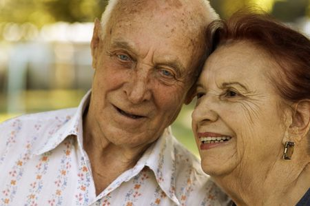 seniors in love (focus point on left woman eye,special photo f/x) Stock Photo - 800926