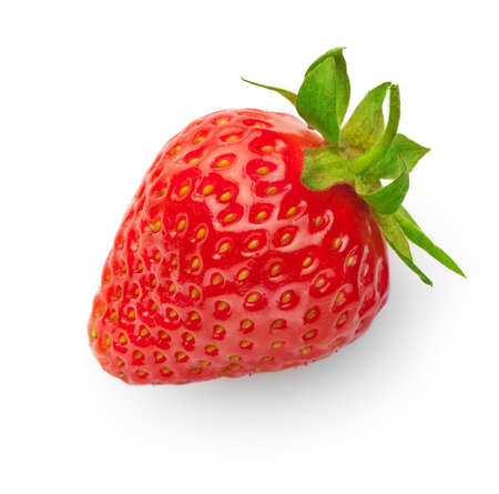 fresh strawberry isolated on white background with soft shadow Stock Photo
