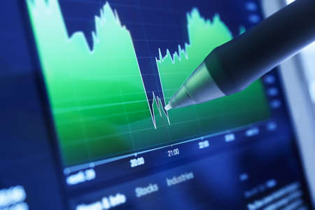Business charts and markets photo