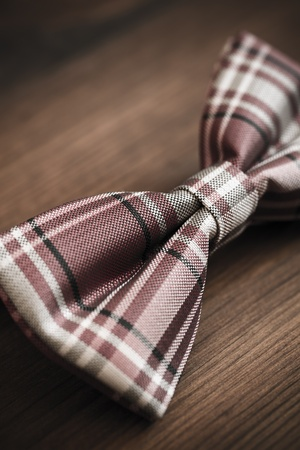 specific clothing: italian silk bow tie in close up Stock Photo