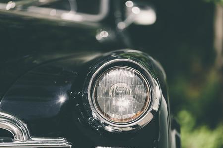 closeup of a soviet classic vintage car