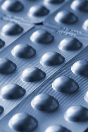 blue toned: pills (special blue toned film photo fx,selective focus)