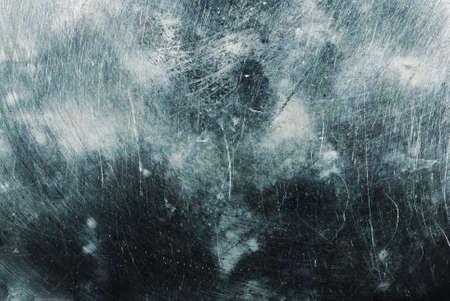 blue toned: metallo sfondo (blu tonica fotografia f  x sulla trama, punto di messa a fuoco sul centro della foto) Archivio Fotografico