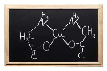 chemical formula (blackboard with clipping path,focus point on the center of the photo)