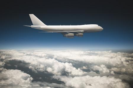 jetliner: Jetliner above the clouds