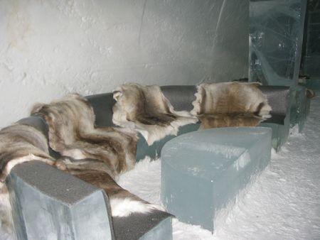 kiruna: Lounge in the Icehotel near Kiruna Sweden Stock Photo