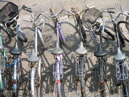 bikes & shadows Stock Photo