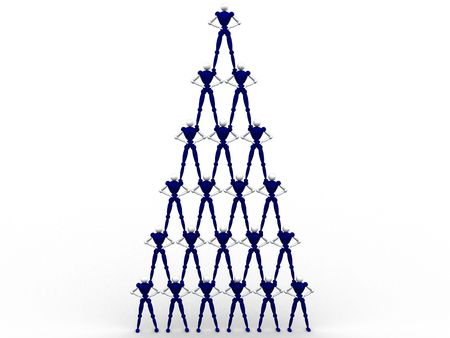 Pyramid Of People photo