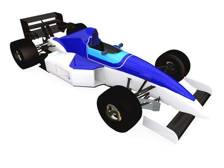 F1 blue racing car vol 3 photo