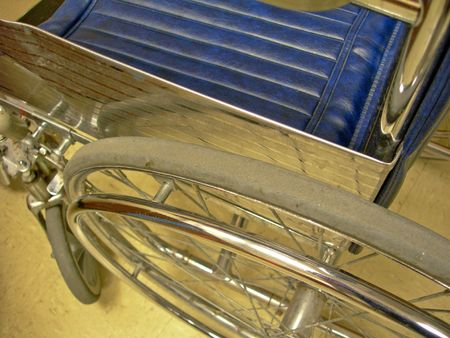 assistive:        Close-up of wheelchair Stock Photo