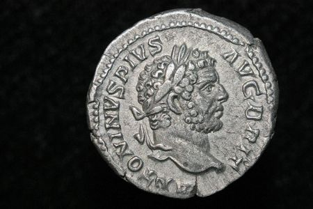 pius: Roman coin,Antoninus Pius denar Stock Photo