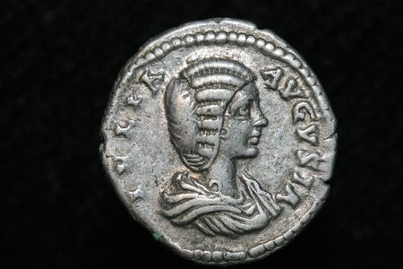 roman denar of Iulia Domma 193-217 AD