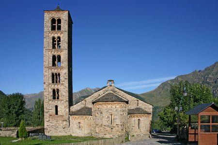 romanesque:  Romanesque church in Sant Climent de Taull,Catalonia,Spain