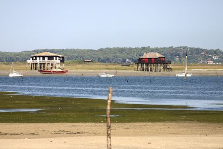 Arcachon Bay,typical houses Stock Photo