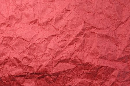 Wrinkled red carton