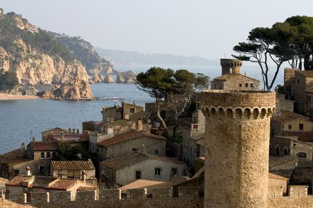 littoral: Tossa de Mar, Costa Brava, Catalonia, Spain Stock Photo