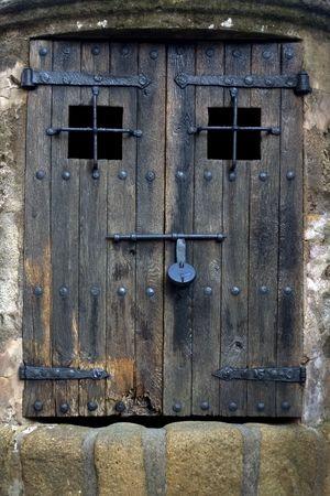 Door in Costa Brava, Catalonia, Spain Stock Photo