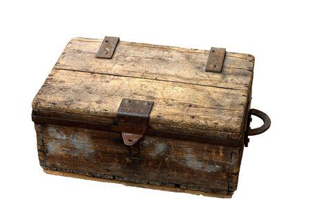 oxidized: antigua caja aislada  Foto de archivo