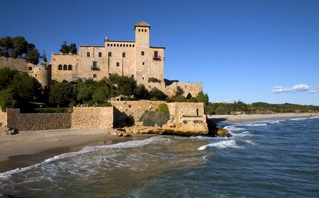 Tamarit castle, Tarragona, Catalonia, Spain Stock Photo