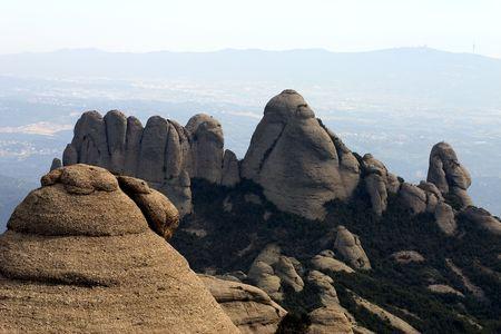montserrat: Montserrat mountain, Catalonia, Spain Stock Photo