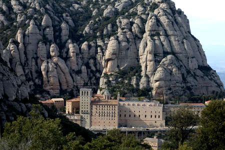conglomeration: Montserrat abbey, Catalonia, Spain
