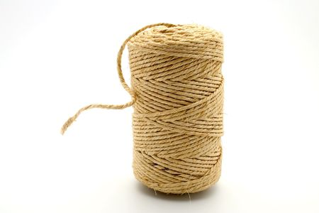 hasp: Isolated linen string