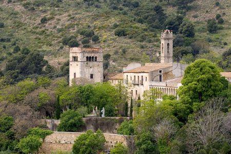 house of prayer: Monastery of St. Jeroni de la Murtra, Badalona, Catalonia, Spain Stock Photo