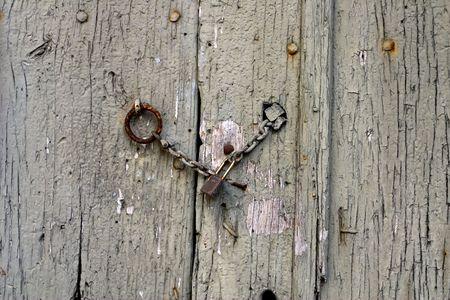 Old door detail photo