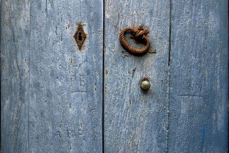 Ancient door detail photo