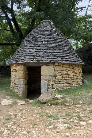 drystone: Drystone hut in Breuil, Dordogne (Perigord), Aquitaine, France Stock Photo