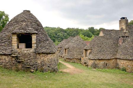Drystone huts in Breuil, Dordogne (Perigord), Aquitaine, France photo