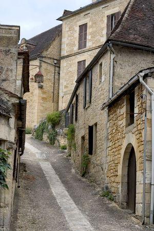 Street in Beynac, Dordogne (Perigord), Aquitaine, France Stock Photo