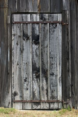 Aged door; cabin in Biganos, Gironde, France Stock Photo - 685250